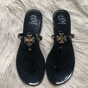 New Tory Burch Mini Miller Jelly Sandals Black 8